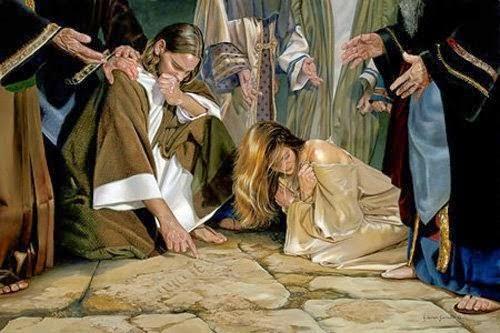 (Gv 8,1-11) Chi di voi è senza peccato, getti per primo la pietra contro di lei.